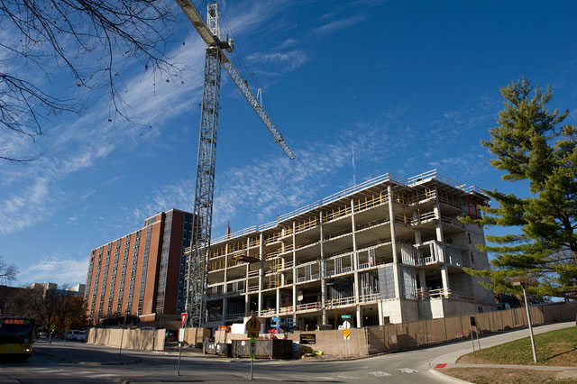 New residence hall construction