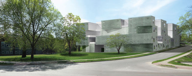 Architectural rendering of art building