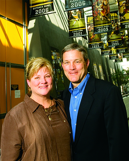 Kirk and Mary Ferentz in the University of Iowa Hall of Fame