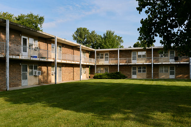 Exterior photo of Hawkeye Court Apartments