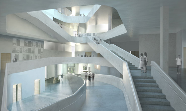 rendering of the new Visual Arts Building interior