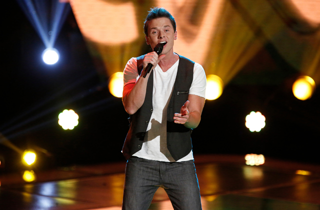 "Michael Lynch auditioning on ""The Voice"""