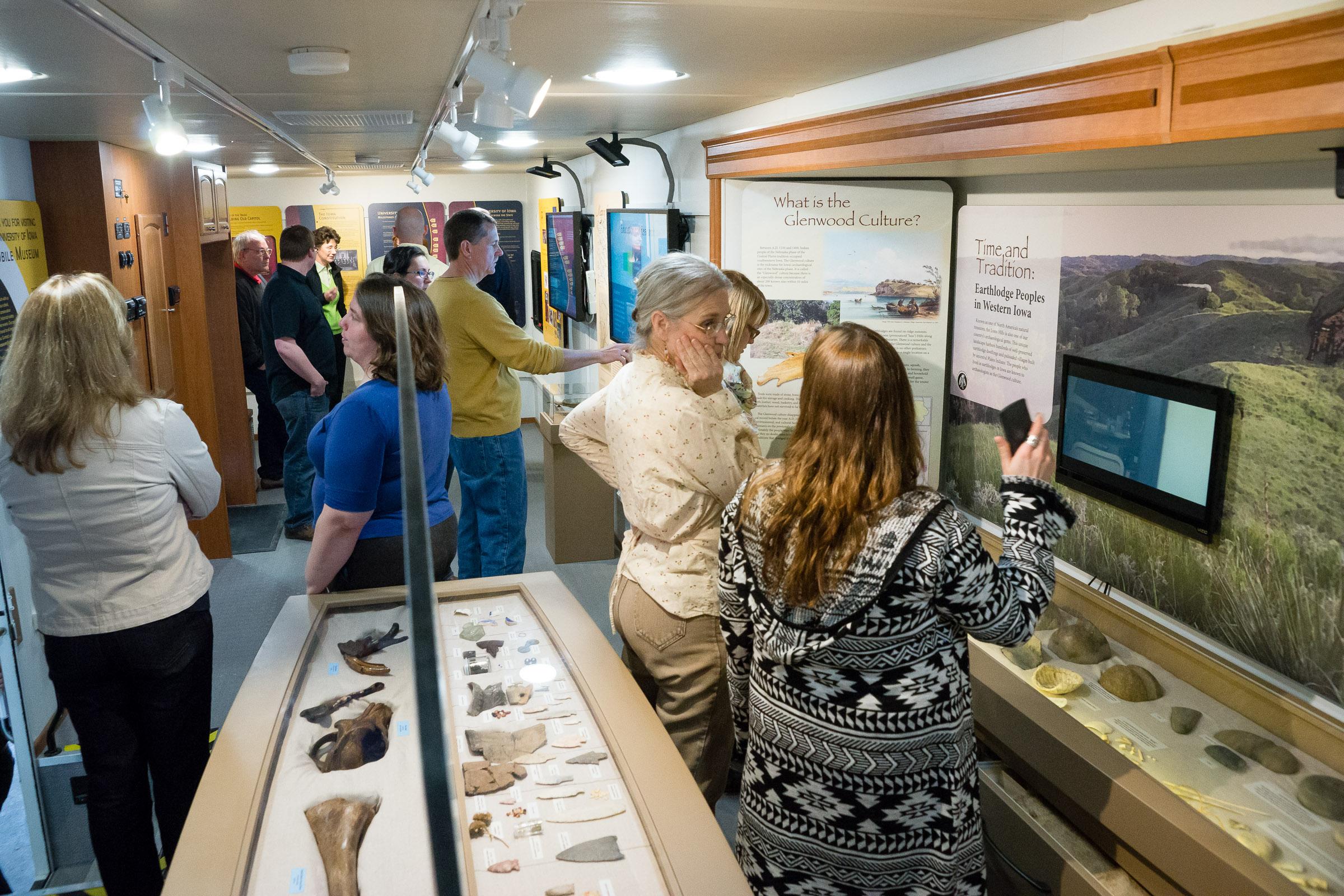 interior of mobile museum