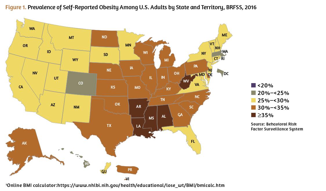 obesity rates in u.s.
