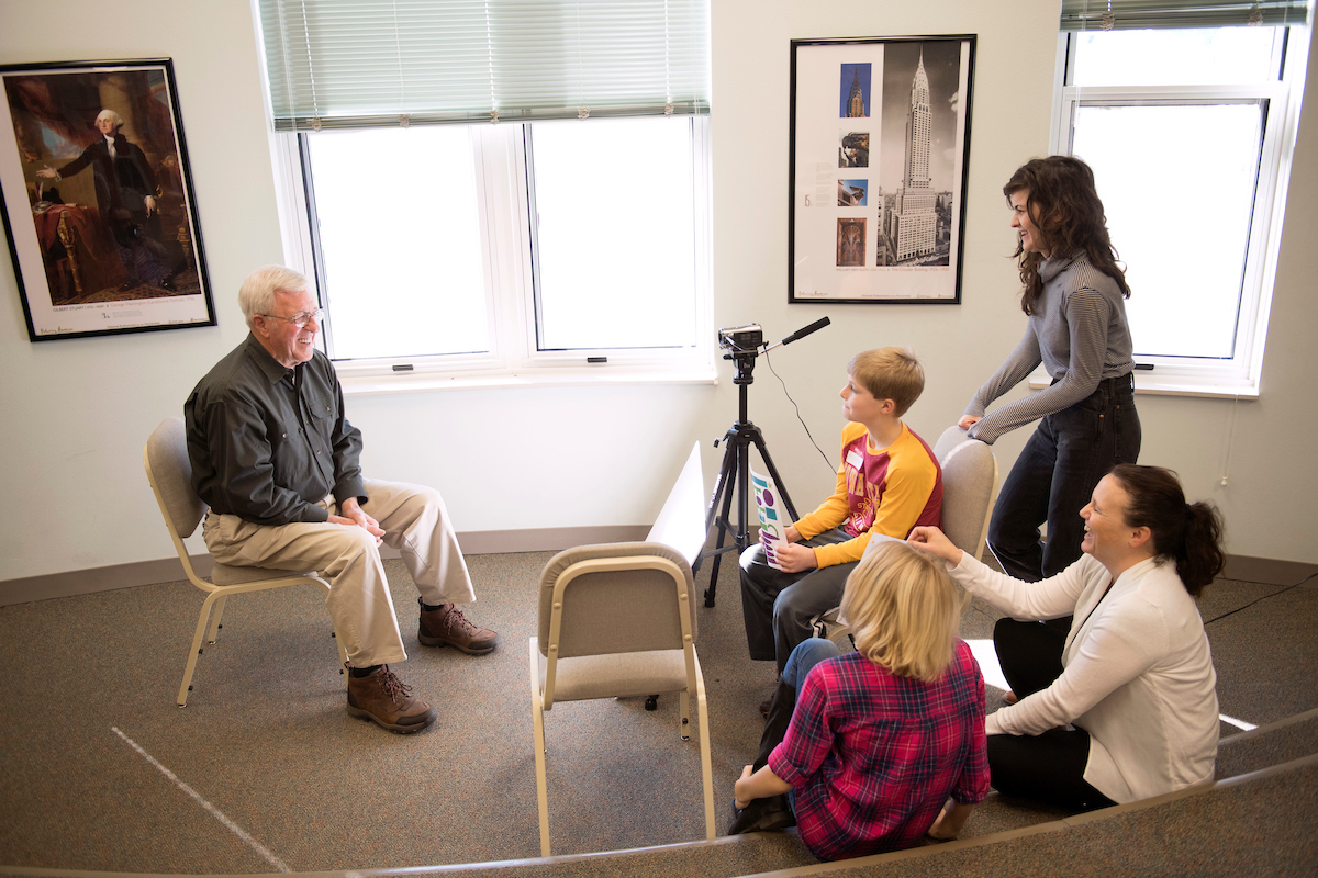 ui grad students take humanities based approach to community interview session