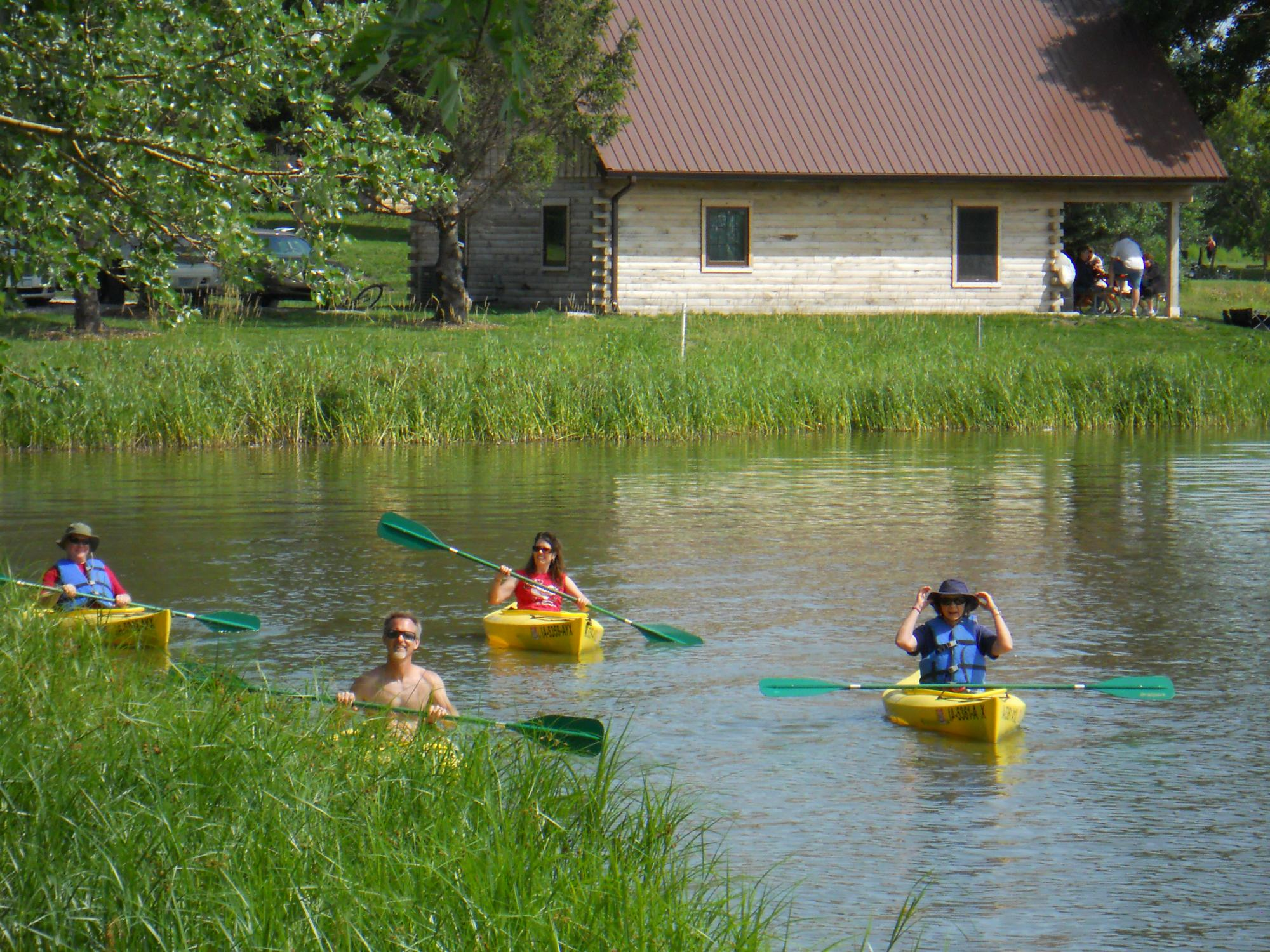 canoers on little wall lake