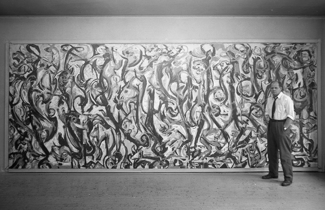 The story of a modern masterpiece iowa now for Mural pollock