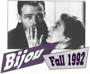 Photo of man and woman on cover of 1992 Bijou calendar
