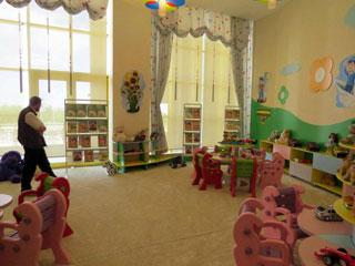 empty children's library play room