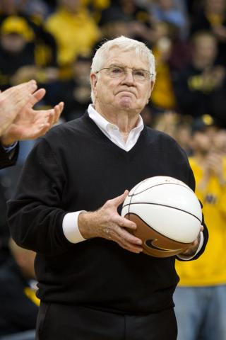 Former Hawkeye coach Tom Davis being honored at CHA