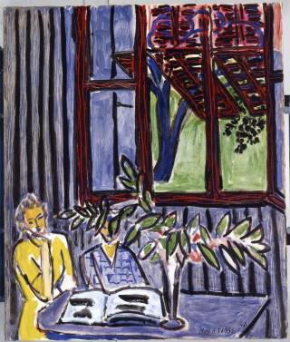 Detail of Blue Interior with Two Girls by Henri Matisse