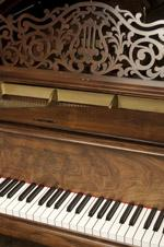 detail of Steinway piano at the Petacrest Museum