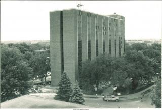 Exterior shot of Rienow Hall, 1966