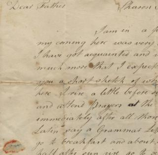 handwritten letter--Eno Family Letters collection, 1813