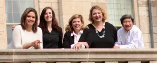 (left to right) Isandra Martinez-Marrero, Nina Kim, Amy Oberfoell, Susan Bailey, and Dan Dao.
