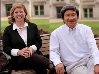Amy Oberfoell and Dan Dao