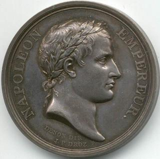 A medal with the head of Napoleon