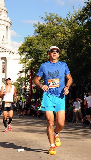 Anthony Arnone running the marathon.