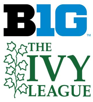 big ten and ivy league logos