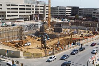 Construction site near University of Iowa hospital