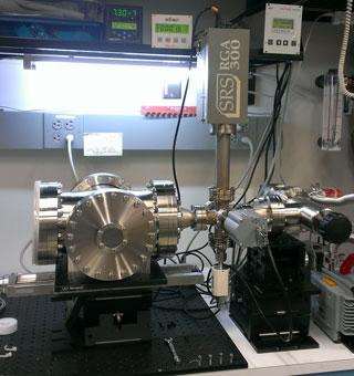 The gamma-ray burst polarimeter in Marlowe's lab.