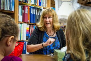 Teacher Connie Stusak uses active learning to engage her students.