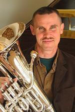 Neal Corwell holding euphonium
