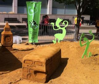 Dance Marathon's entry into this year's Sand in the City competition