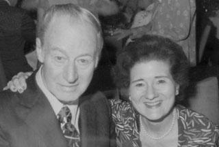 portrait of Franklin Trueblood and Elsie Foerstner