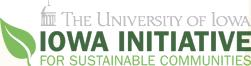 Iowa initiative for sustainable communities logo and wordmark