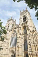 front facade featuring ornate stone work on york minster