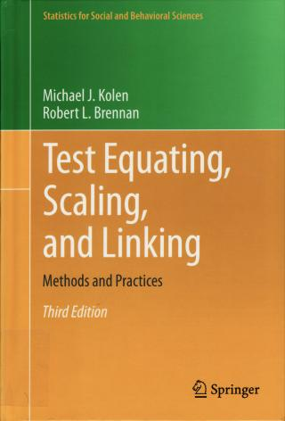 cover of Test Equating, Scaling, and Linking textbook