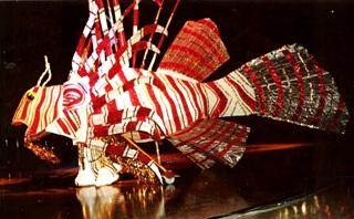 LionFish King costume red and white