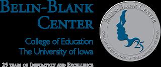 Belin-Blank Center silver anniversary logo