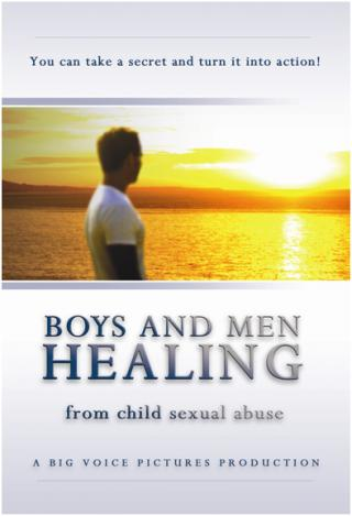 A man gzing into a sunset in a promotion for the documentary film, Boys and Men Healing