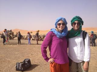 Picture right before our camel ride into the Sahara.