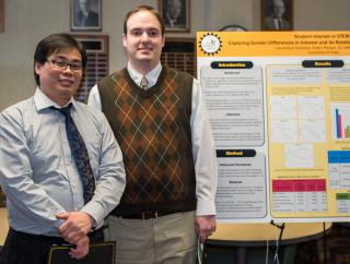 Laurentius Susadya and Adam Reeger with their diversity poster.