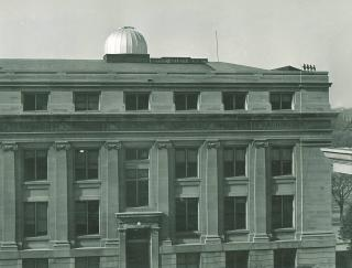 Exterior photo of the MacLean Hall rooftop observatory
