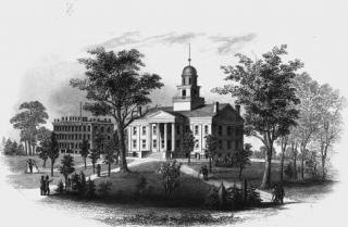 1860s engraving of Old Capitol.