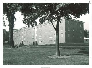 Exterior shot of Parklawn Hall, 1955