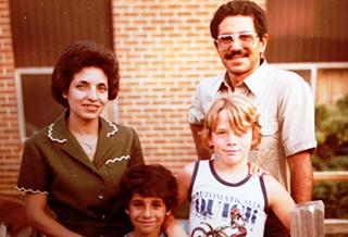 UI alumnus Ali Soliman and his young family