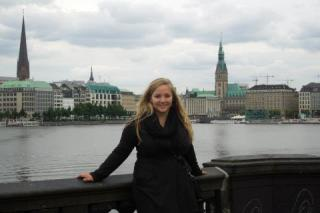 young woman in Hamburg, Germany