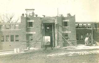 1920 photo of Quadrangle construction