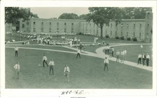 Students in the Quadrangle courtyard in 1927