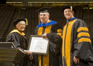 Stanley Redeker receives honorary degree