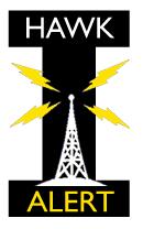 Hawk Alert UI emergency communications logo