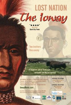A movie poster featuring American Indian faces