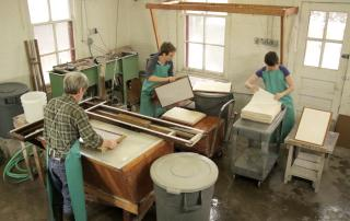 Center for the Book papermaking team