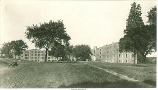 Exterior shot of Westlawn, 1929