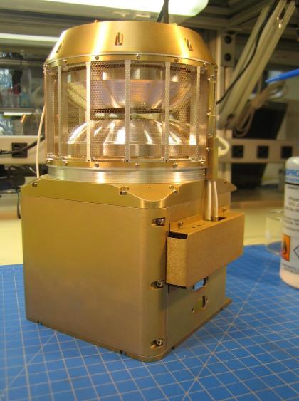 The Solar Wind Ion Analyzer instrument will measure the solar wind and ion density and velocity in the magnetosheath of Mars. Photo courtesy of University of California Berkley.